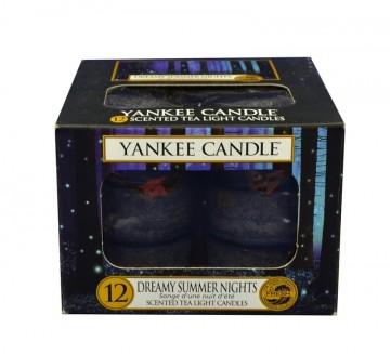 Yankee Candle čajové svíčky 12 x 9,8g Dreamy Summer Nights