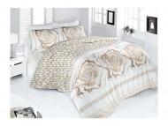 BIANCO luxusní Francouzské saténové povlečení ROSE Krem 200x220+2x70x80