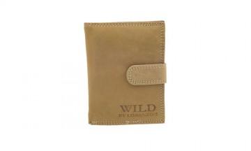 Pánská peněženka Wild by Loranzo - světle hnědá, na výšku [991]