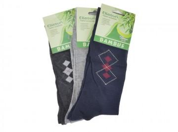 Pánské klasické bambusové ponožky Ellasun ZM0624 - 3 páry, velikost 40-43