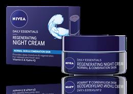 Nivea - Regenerační noční krém pro normální až smíšenou pleť Aqua Effect 50ml