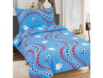 Lenjerie de pat din bumbac, pentru 2 persoane 140x200/70x90cm [PL0126]