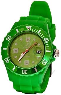 Silikonové hodinky Kronen & Söhne - zelené
