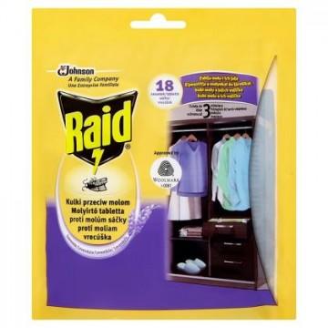 Raid - proti molům - sáčky, levandule - 18 ks v balení
