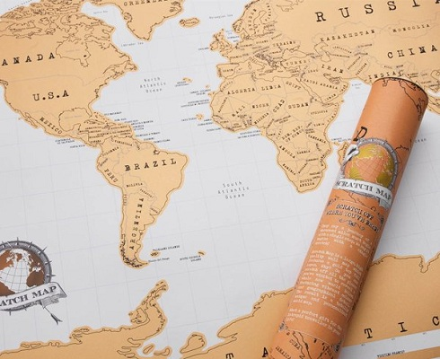 Kaparós világtérkép elegáns tubusban 88x52 cm