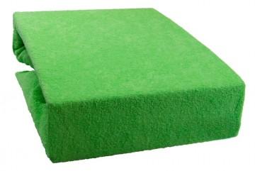 Prostěradlo froté 160x200 cm - světle zelené