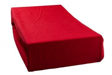 Prostěradlo jersey 90x200 cm - červené