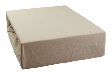 Jersey lepedő 160x200 cm - bézs