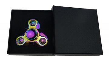 Fidget spinner - din metal, lucios, în cutie cadou - colorat [9085]