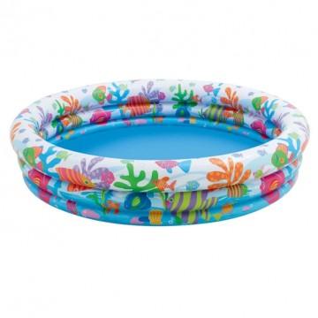 Nafukovací bazén rybičky - 132x28cm