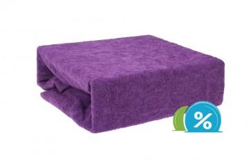Cearșaf plușat pentru copii 60x120 cm - violet