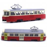 Kovová tramvaj Tatra T3, 18,5 cm - červeno-krémová