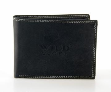 Pánska peňaženka Wild Tiger - čierna bez cvočku [994]