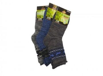 Dámské zdravotní bambusové termo ponožky AMZF PB-813 - 3 páry, velikost 35-38