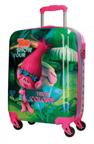 Cestovní kufr ABS Trollové Colors 55 cm