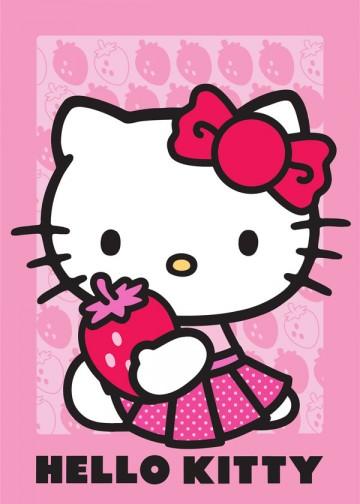 Dětský koberec Hello Kitty jahoda 95/133
