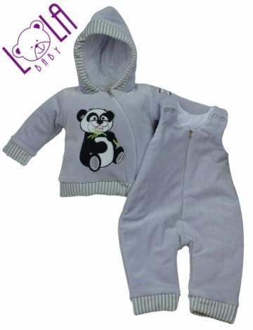 Meleg szett - szürke - Panda, méret 68
