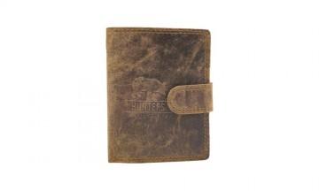 Pánská peněženka Hunters - ošoupaná hnědá, na výšku [988]