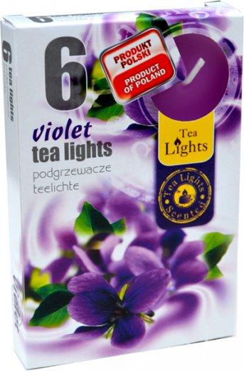Čajové svíčky 6 kusů –  Fialka