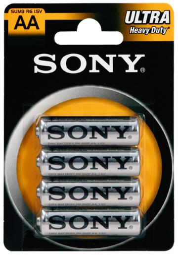 Sony SUM3NUB4A R6/AA, 4 ks AA zinková baterie 1,5V