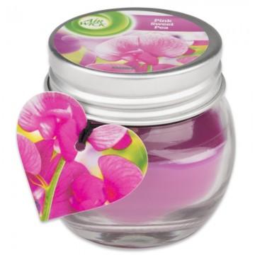 Vonná svíčka ve skle -  Air Wick- růžové květy – 30g