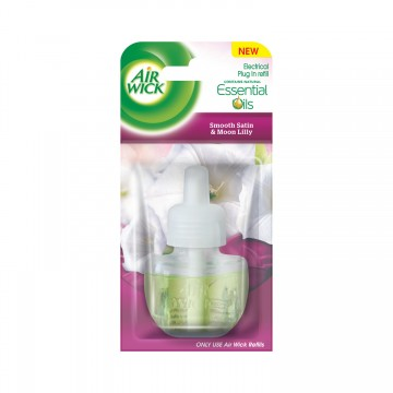 Air Wick Aparat electric - rezervă - Satin fin și crini, 19ml