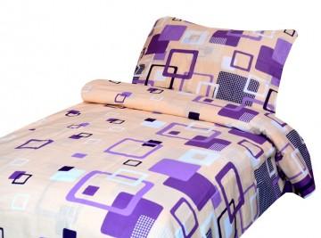Lenjerie de pat din bumbac, pentru 2 persoane 140x200/70x90cm [PL0109]