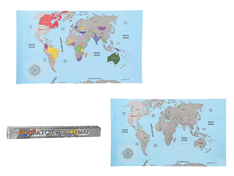 Kaparós világtérkép 88x52 cm