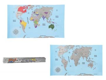 Stírací mapa světa 88x52 cm
