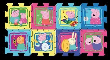 Habszivacs puzzle Peppa malac 8db 30x30 cm