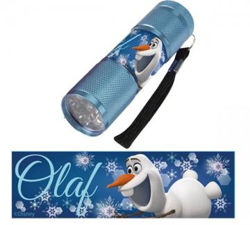 Dětská hliníková LED baterka Ledové Království MODRÁ