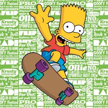 Polštářek Bart Simpson green 2016 40/40