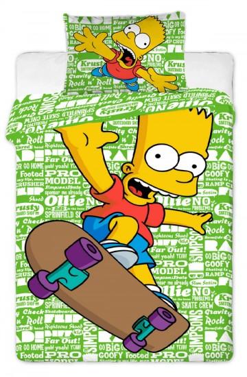 Povlečení Bart Simpson green 2016 140/200 cm