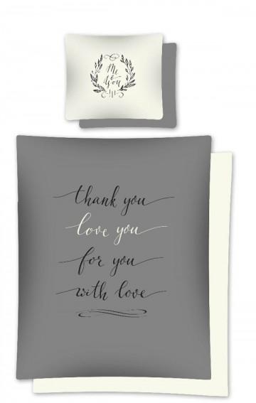 Povlečení Love You grey 140/200, 70/80