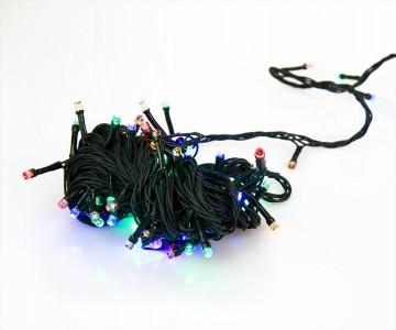 Žiarovky na stromček - 50LED 5m s napájením na 3x AA baterie - barevná