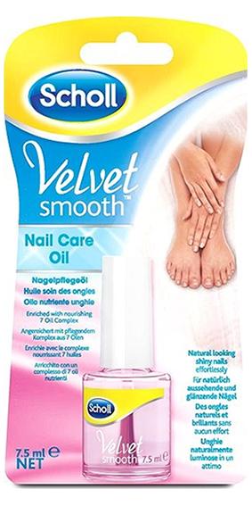 Scholl Velvet Smooth - olej na nehty, růžový, 7,5 ml