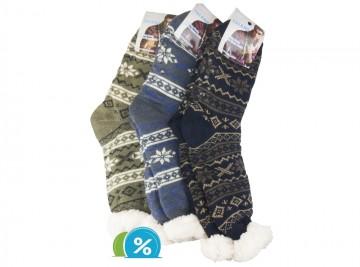 Ciorapi colorați super termo MC104 - bărbați, 1 pereche - mărimea 43-47