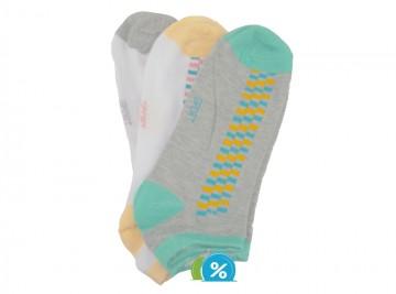 Dámské kotníkové bavlněné ponožky Pesail LW081 - 3 páry, velikost 35-38
