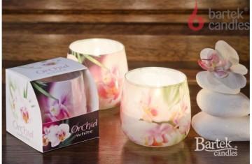 Vonná svíčka ve skle - Bílá orchidej, 100g