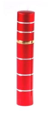 Dámský pepřový sprej ve tvaru parfému s pruhy - červený