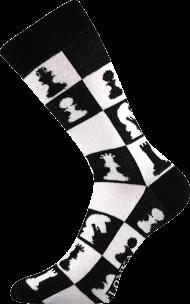 Ponožky Šachy - 1 pár, velikost 35-38