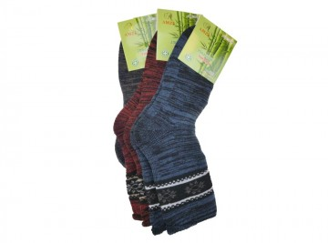 Ciorapi termo de sănătate din bambus pentru domni AMZF PB-819 - 3 perechi, mărimea 35-38