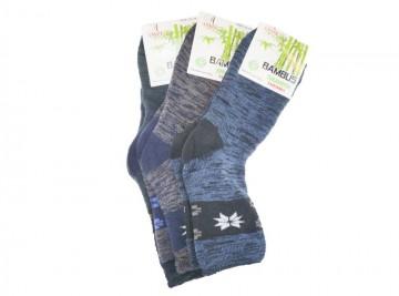 Dámské zdravotní bambusové termo ponožky AMZF PB-829 - 3 páry, velikost 35-38