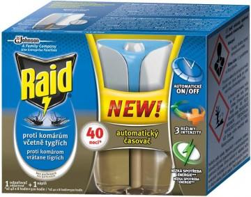 Raid - Advanced elektrický strojek s časovačem proti komárům s tekutou náplní 40 nocí