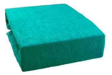 Cearșaf plușat 160x220 cm - smarald