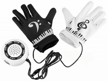 Elektronické piano rukavice