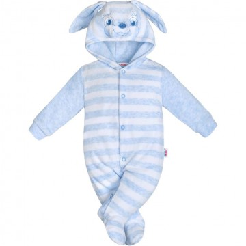 Kojenecký semiškový overal New Baby Rabbit modrý