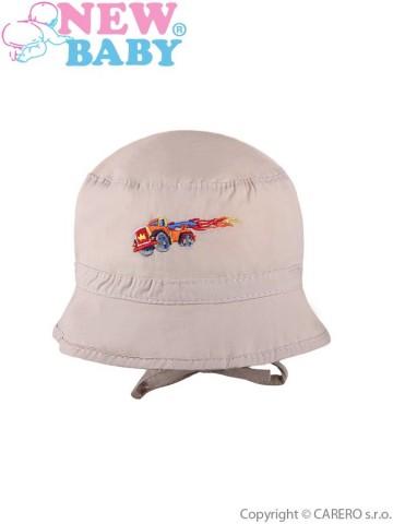 Letní dětský klobouček New Baby Truck béžový