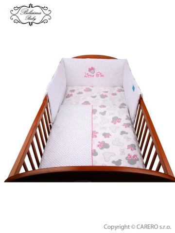 3-dielne posteľné obliečky Belisima Myška s mašličkou 90/120 ružové