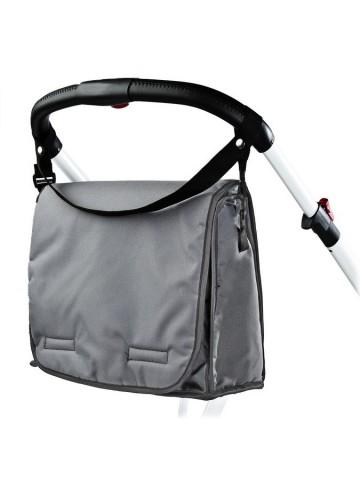 Taška na kočárek s přebalovací podložkou CARETERO dark grey